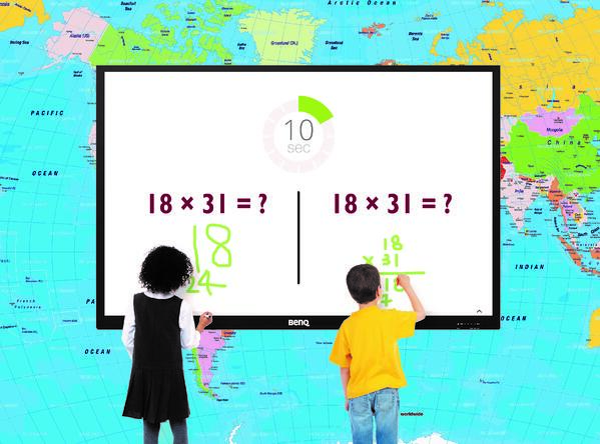 Pantalla interactiva BenQ matematicas
