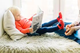 crianca lendo