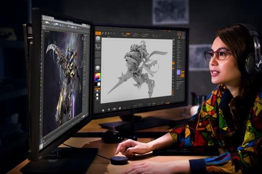 mulher desenvolvedora de jogos