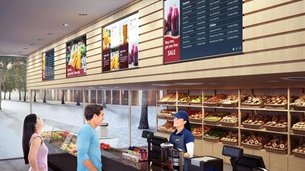 Digital Signage BenQ Cafeteria