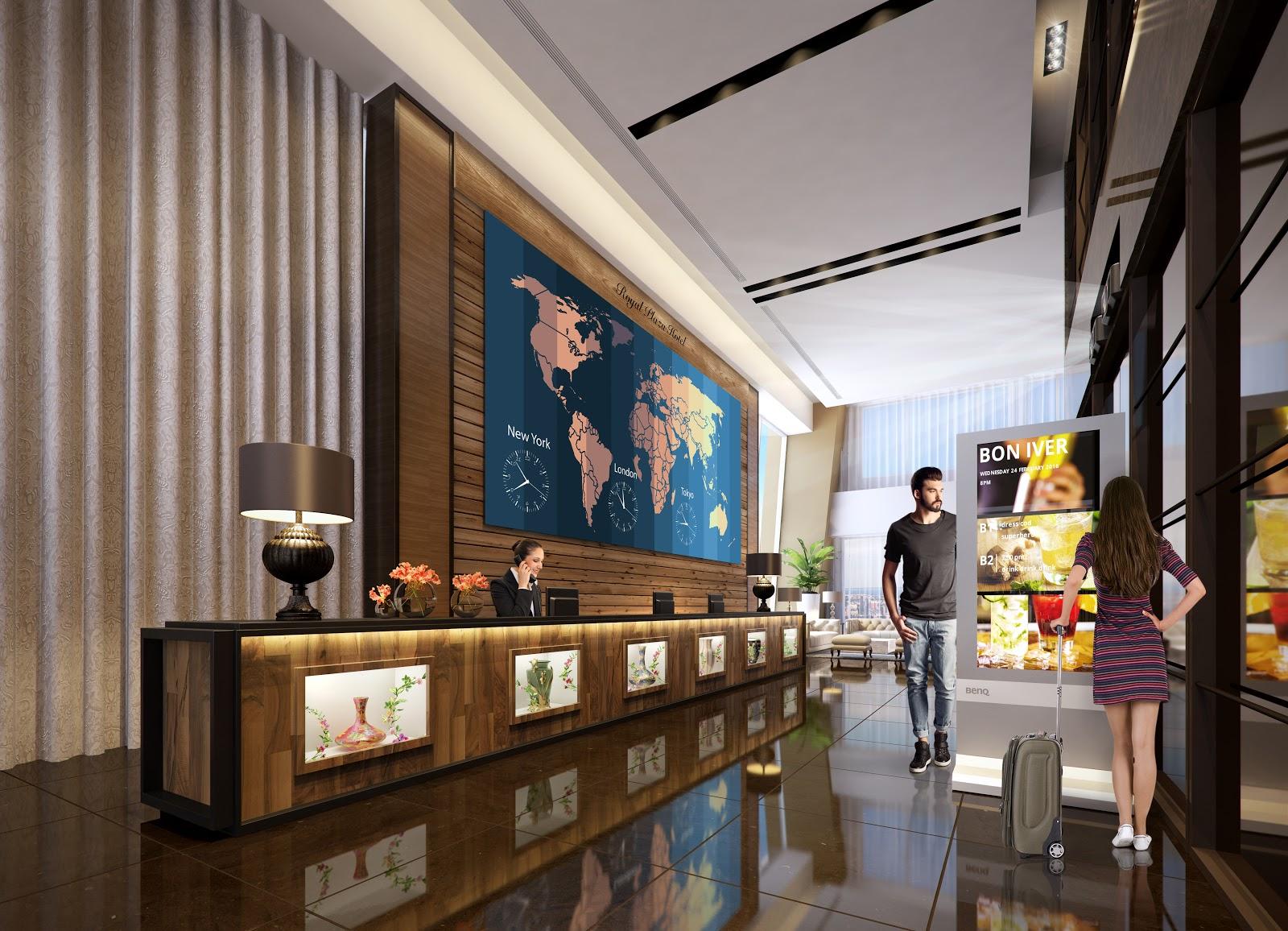 Hotel Lobby BenQ Señalizacion digital