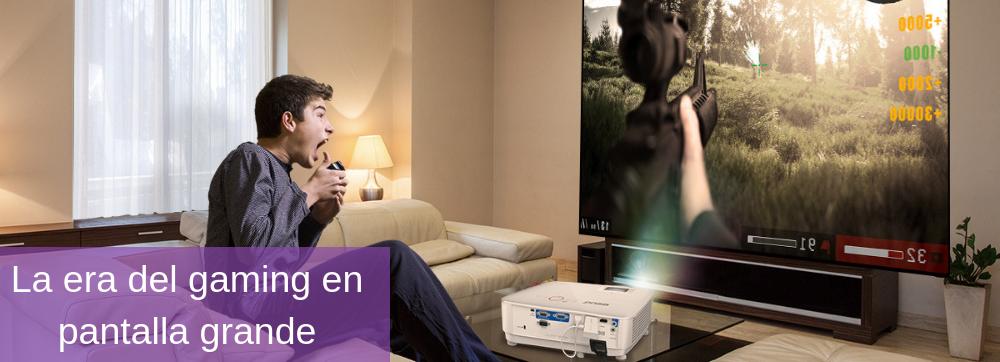 Gaming en pantalla grande con un proyector