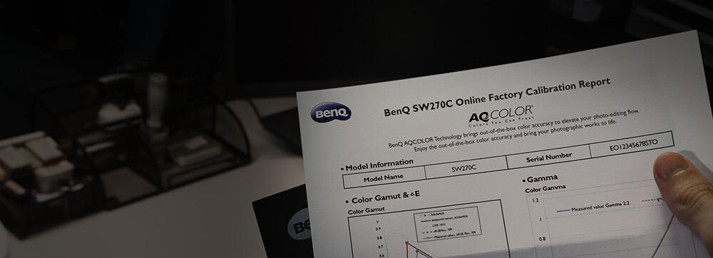 Certificado de Calibração BenQ AQCOLOR